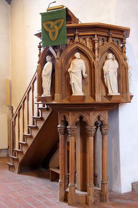Die Kanzel der Kirche in Breitenfelde - Copyright: Manfred Maronde